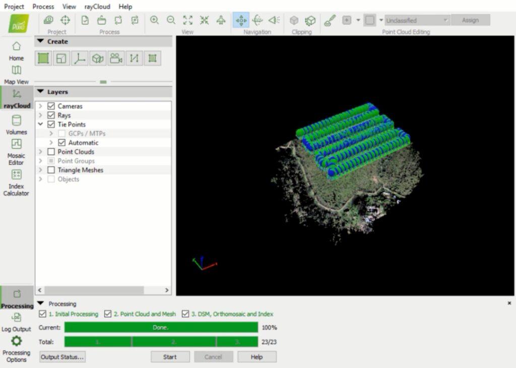 Etapas para hacer mapas con drones - procesamiento
